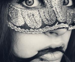 girl, mask, and eyes image