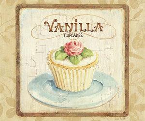 cupcake, vanilla, and vintage image