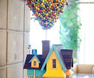 up, cake, and disney image