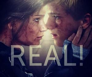 real, katniss, and peeta image