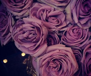 flowers, pretty, and purple image