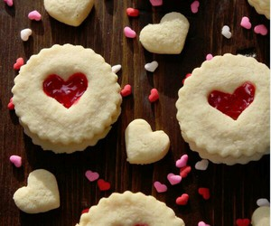 heart, Cookies, and delicious image