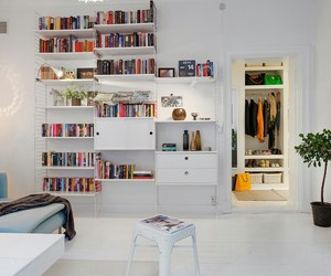 book, house, and closet image