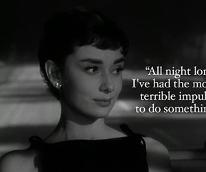 audrey hepburn, black and white, and quote image