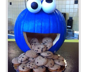 Cookies, blue, and Halloween image