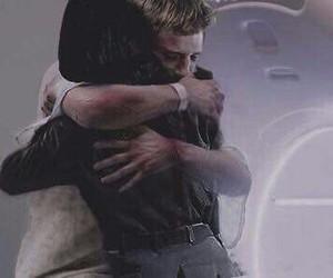 hug, josh hutcherson, and Jennifer Lawrence image