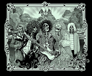 music and skull image