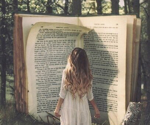 book, forest, and night image