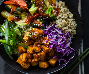 korean, quinoa, and tofu image