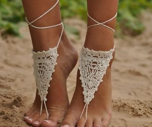 accessories, feet, and summertime image