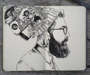 art, drawing, and hipster image