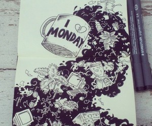 draw, art, and monday image