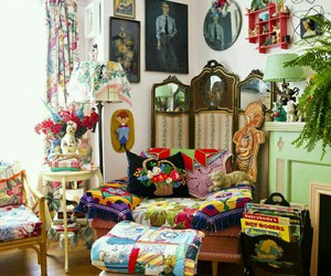 bohemian, decor, and interiors image