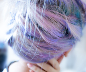 hair, pastel, and purple image