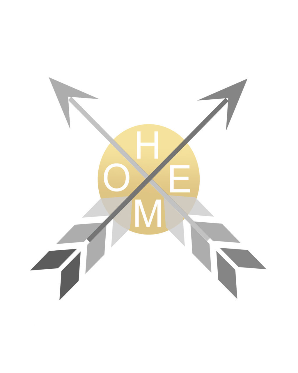 Home Print Black Gold Arrow Print Geometric Gold by Stop4Design