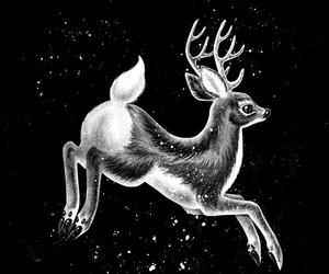 animal, art, and fawn image