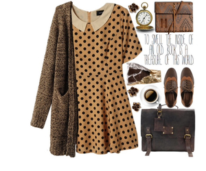 bag, brown dress, and fashion image