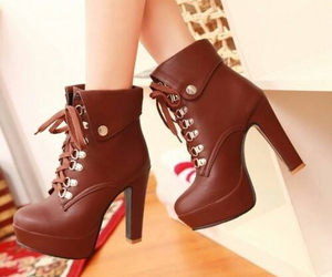 shoes, brown, and boots image