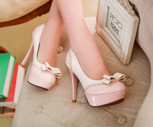 bun, pink, and shoes image