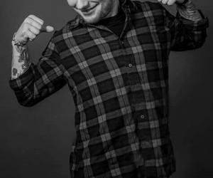 ed sheeran, black and white, and ed image