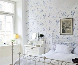 bedroom, flowers, and cute image