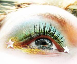 stars, makeup, and eyes image
