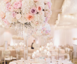beautiful, roses, and wedding centerpiece image
