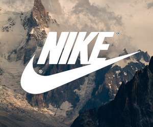 nike, mountains, and wallpaper image