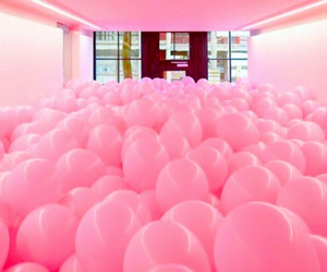 awareness, breastcancer, and balloons image