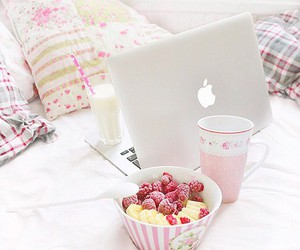 food, apple, and laptop image