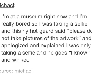 funny, museum, and pick up line image