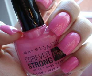 pink, nails, and Maybelline image