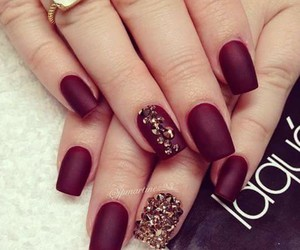nails, red, and manicure image