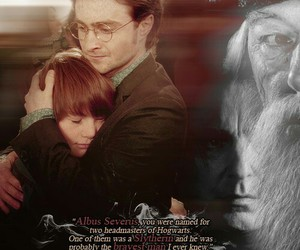 harry potter, snape, and albus dumbledore image