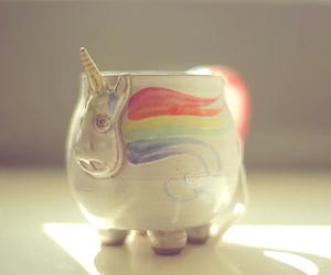 unicorn, mug, and cute image