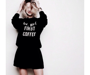 coffee, girl, and hipster image