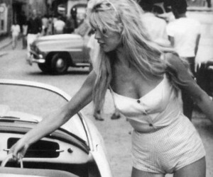 blonde, vintage, and car image