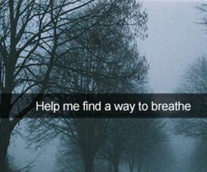 breathe, grunge, and sad image