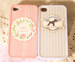 case, pink, and flower image