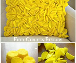 diy, pillow, and yellow image