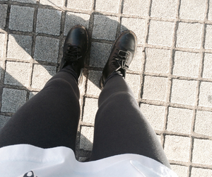 basic, black, and boots image