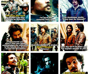aramis, santiago cabrera, and the musketeers image