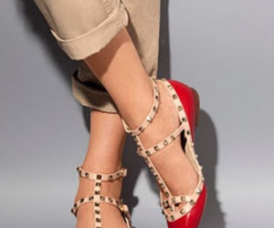flat, shoes, and Valentino image