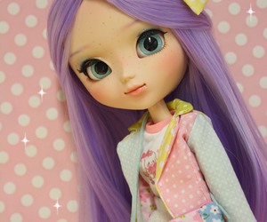 doll, pullip, and purple image