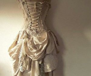 vintage, corset, and dress image