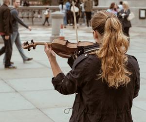 girl, music, and people image