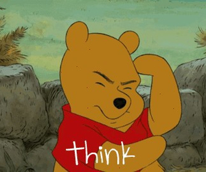 think, disney, and pooh image