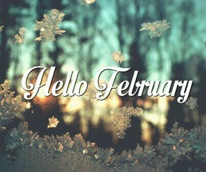 february, hello, and snow image