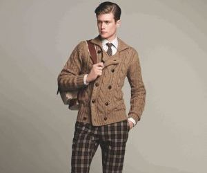 sweater and plaid pants image