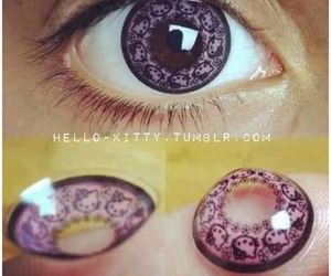 hello kitty, eyes, and pink image